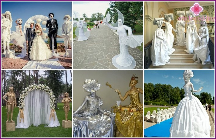 Living sculptures for wedding decor