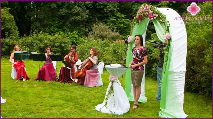 Musical accompaniment of the wedding ceremony
