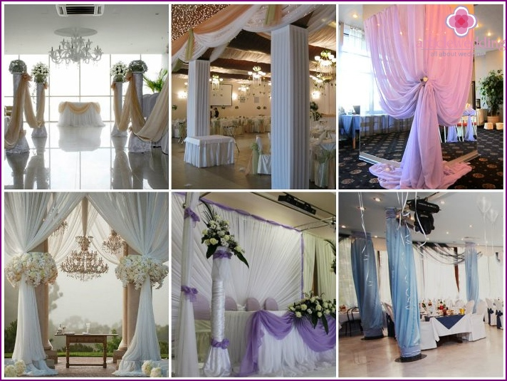 Decoration fabric columns