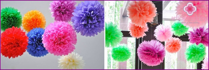 Stylish decor bride pompoms room