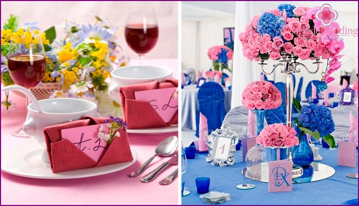 Colors for table linen and decor