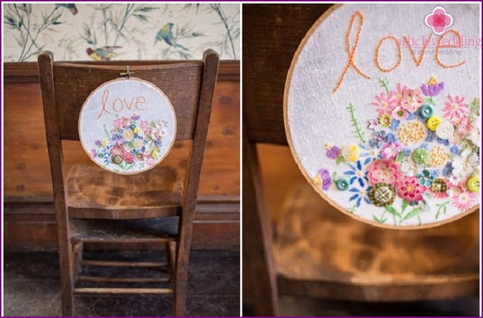 Interesting decor with hand-embroidered