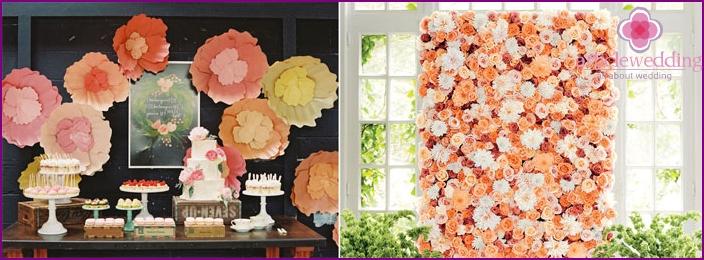 Для того щоб оцінити декор стіни для весілля 4ead9a45603e5