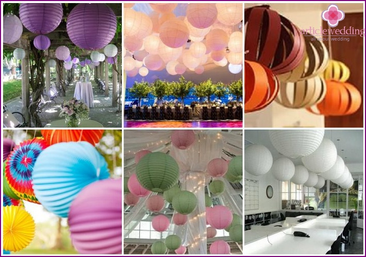 Paper lanterns - a great decoration for wedding