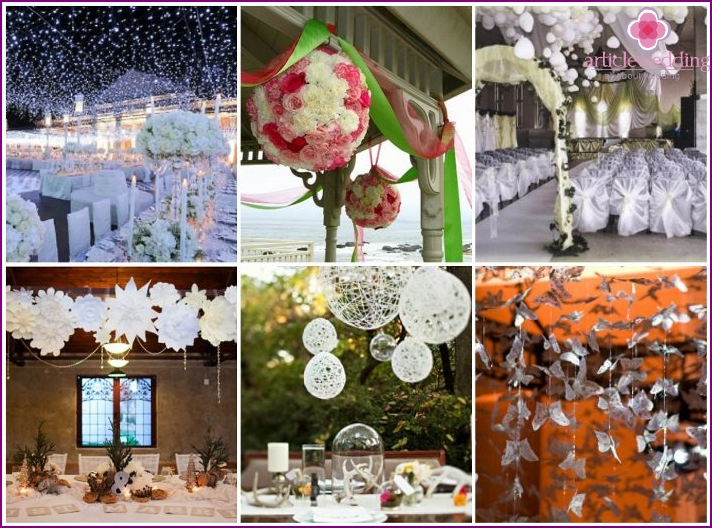 The best ideas for decorating wedding hall ceiling