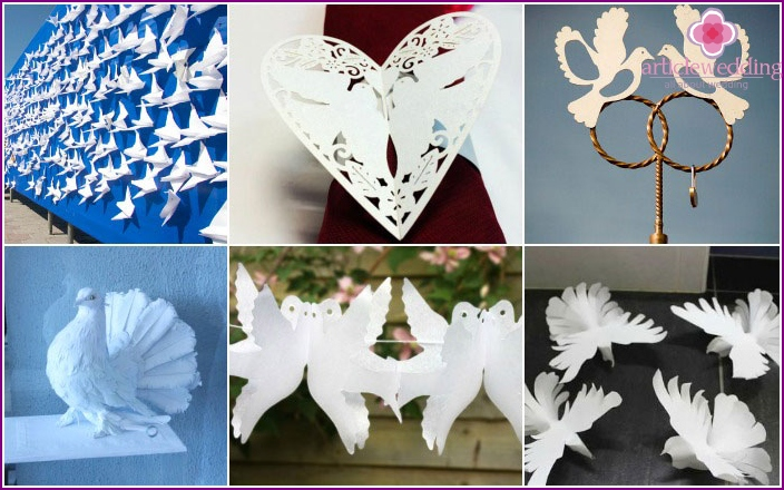 Ideas for creating pigeons for wedding