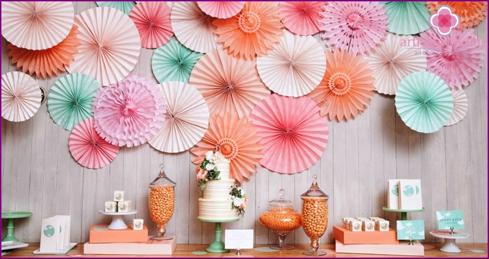 Paper wedding decor