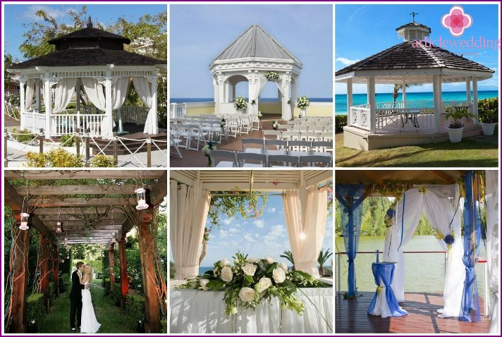 Wedding gazebo instead of arches