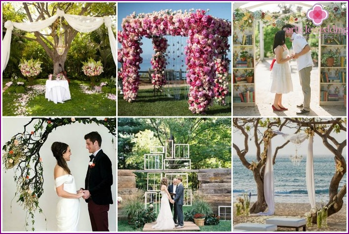 What can replace the wedding arch - photos