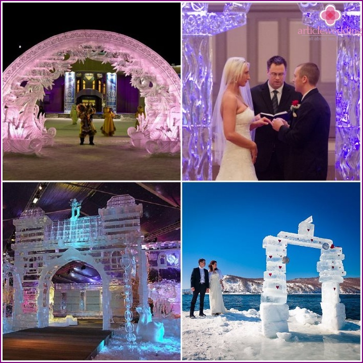 Ice arch for wedding