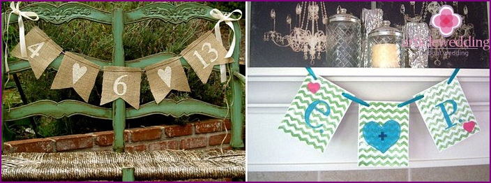 Wedding banner garland
