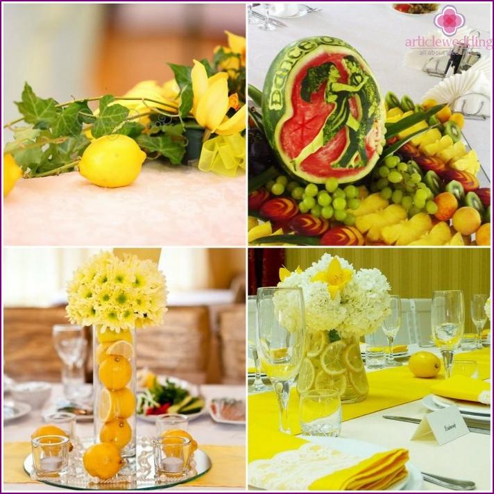 Fruits in young presidium design