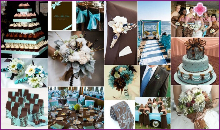 Wedding Celebration in brown and blue tones