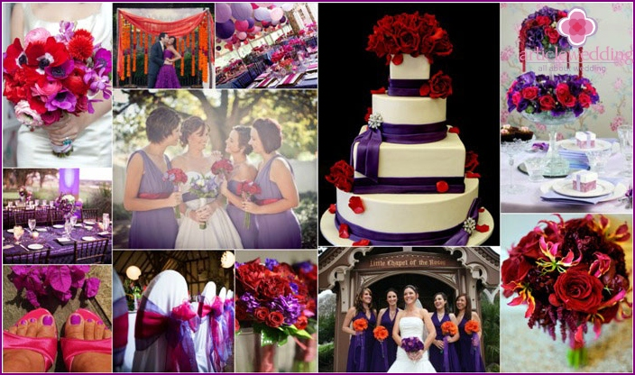 Red-violet range of wedding