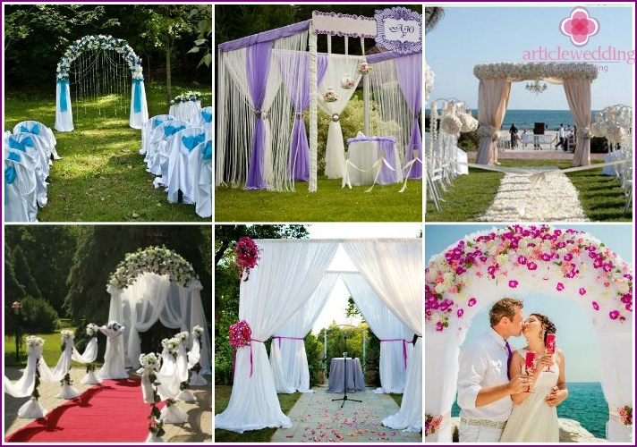 Wedding outdoor modern fabrics