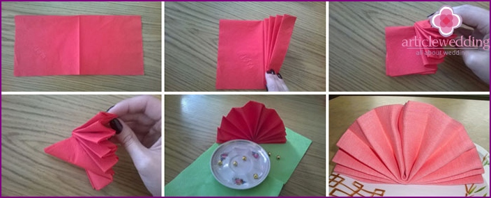 How to fold a paper napkin table fan