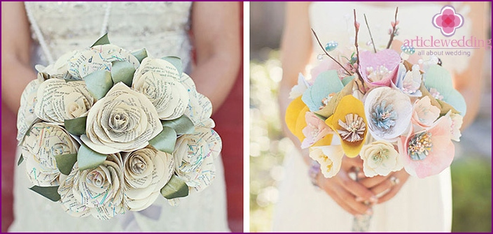Interesting ideas for the bride's bouquet