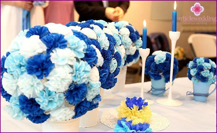 The spectacular design of a celebratory banquet paper flowers
