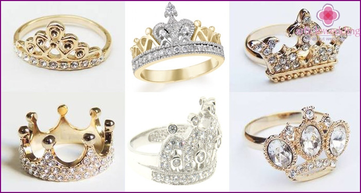 Gems in the ring bridal crown