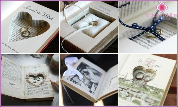 Stand-book for wedding rings