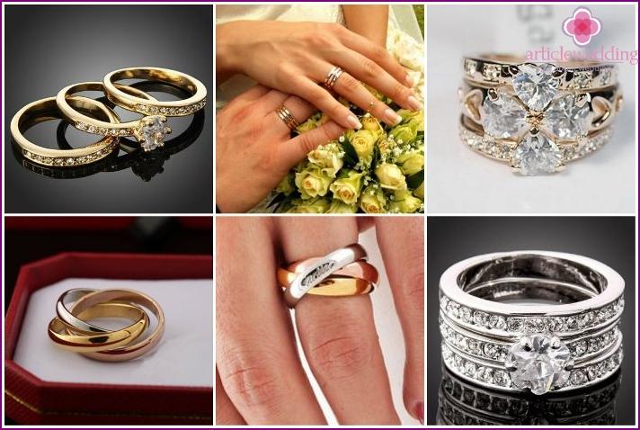 Original triple wedding rings