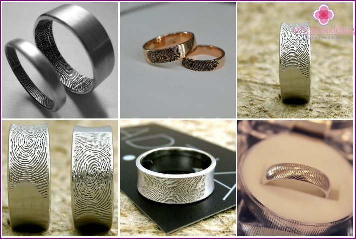Fingerprints on wedding rings