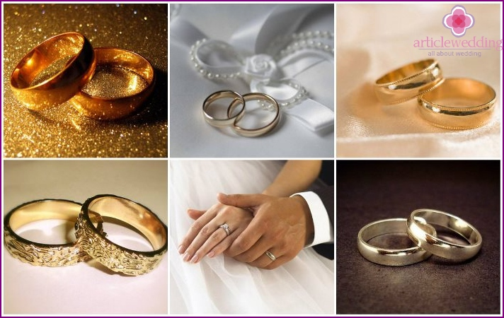 Classical models of wedding rings
