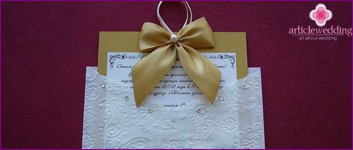 Unusual handmade invitation