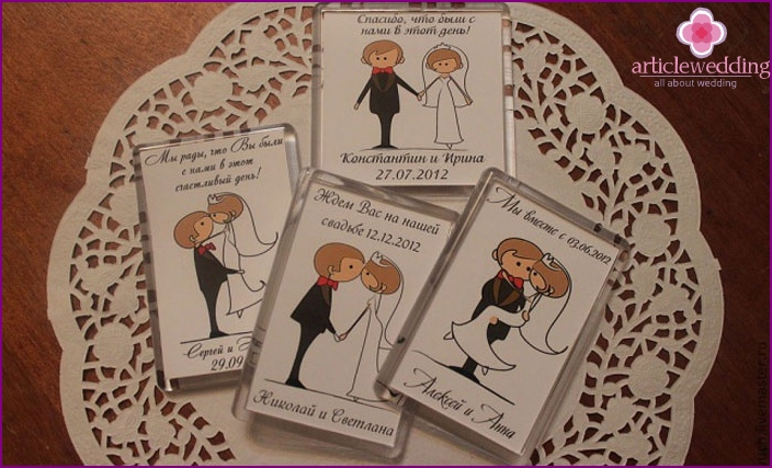 Invitation to the wedding magnets