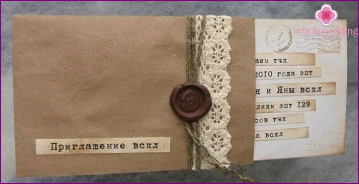 Unusual wedding invitation text