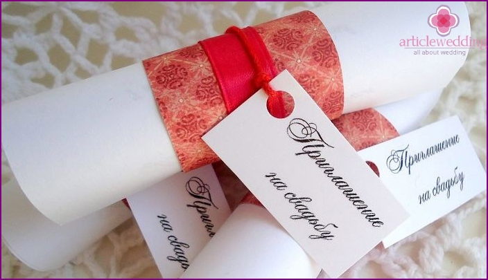 How to sign the invitation cards grandmother