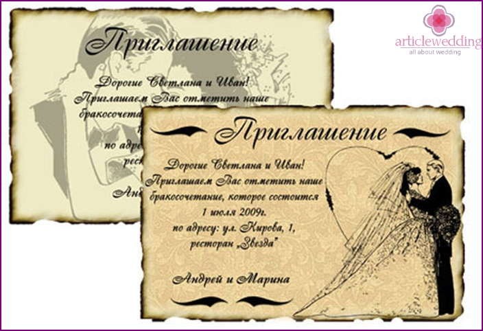 Charming wedding invitations for your favorite friends