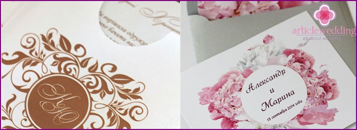 Author's print style for invitation