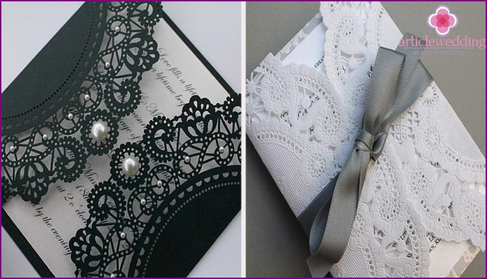 The use of lace and bows