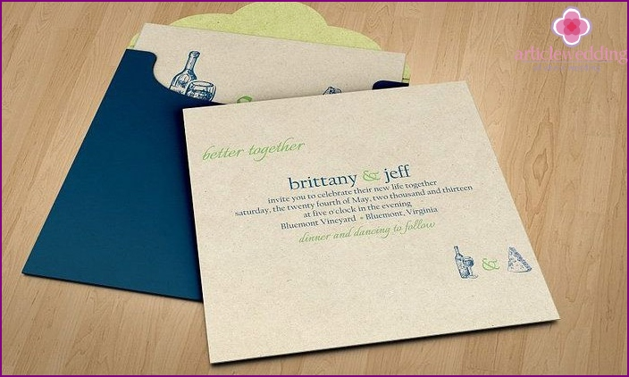Check Postcard invitation to the wedding