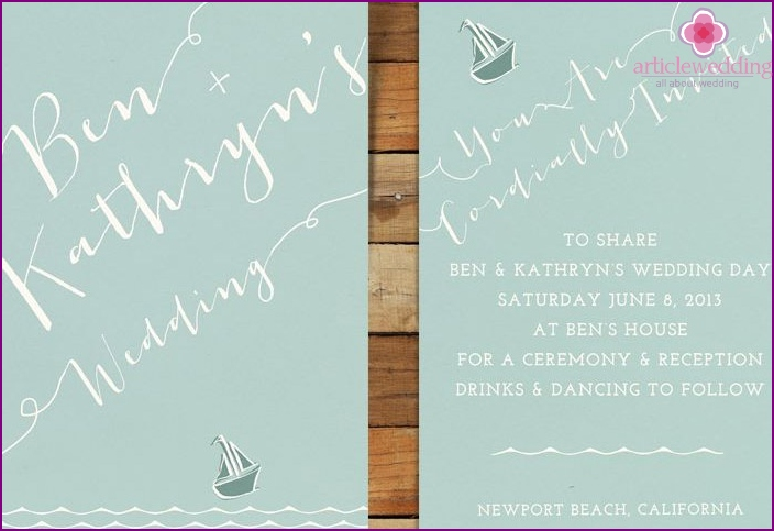 Mock-ups of wedding invitation cards