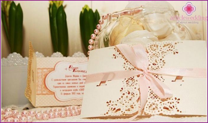 Delicate design invitations