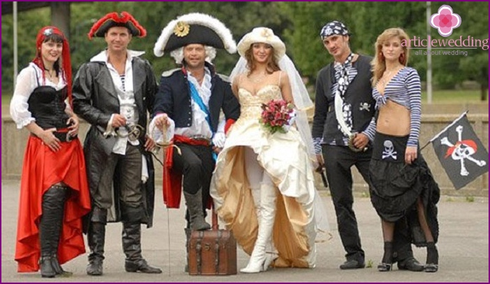 Pirate Theme Wedding