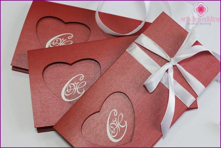 Printing laser cutting wedding invitations
