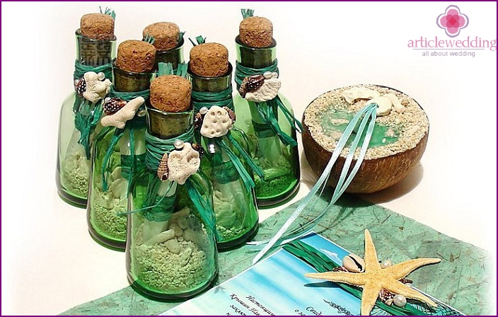 A bottle with a note: creative idea invitation