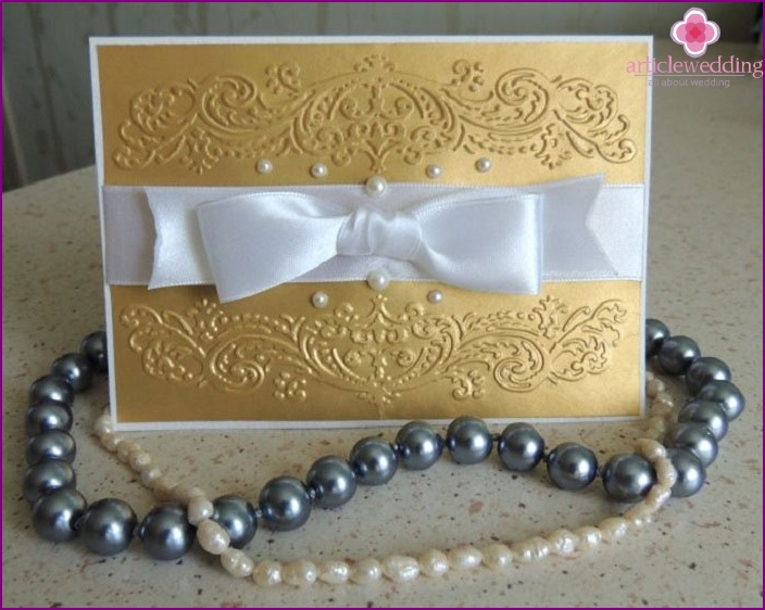 Invitation to the wedding theme
