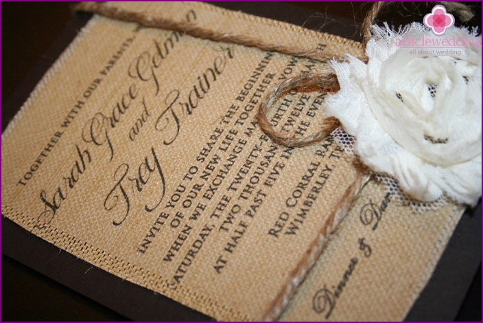 Invitation Rustic