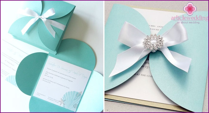 Invitation to a wedding in the style of Tiffany