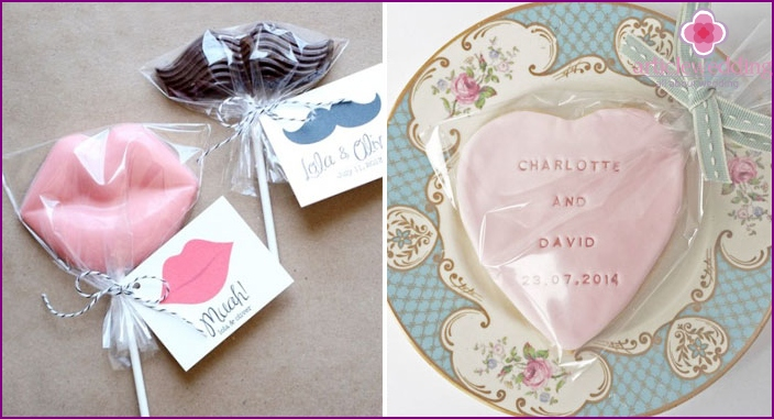 Delicious invitation to the wedding