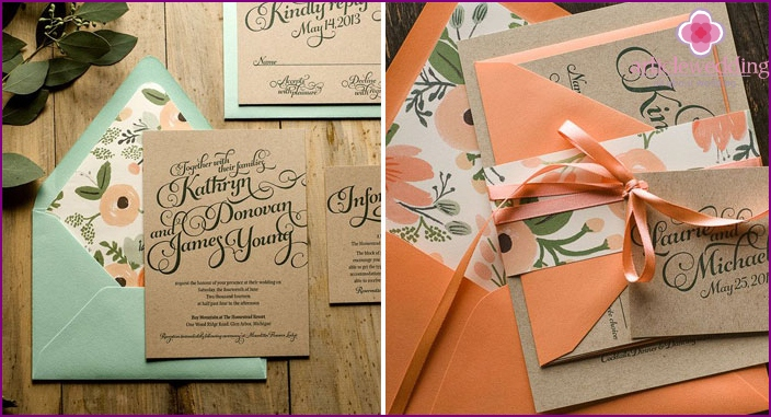 Beautiful invitation for a wedding