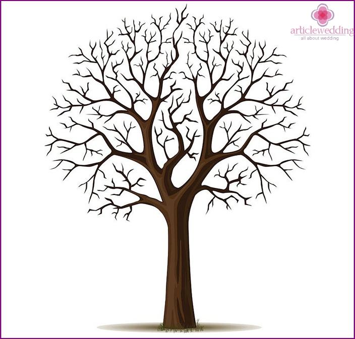 fingeraftryk træ skabelon