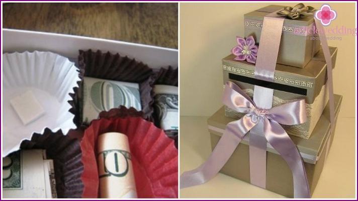 Оригинальный подарок на свадьбу для денег фото 314