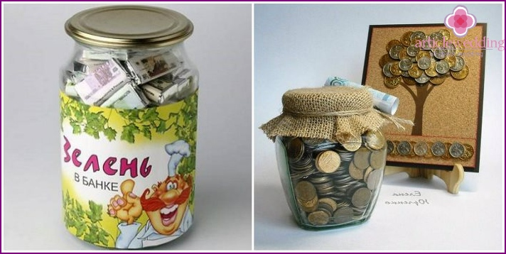 money gift idea in the pot