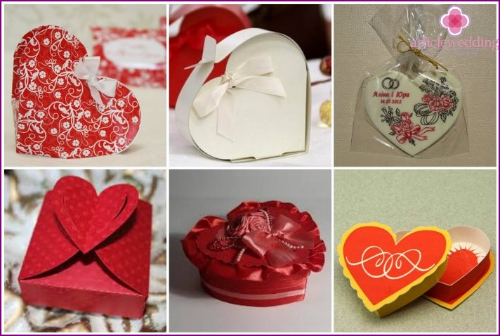 Types of candy boxes hearts