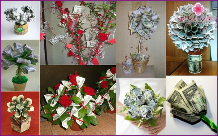 Options Cash flowers for wedding gift